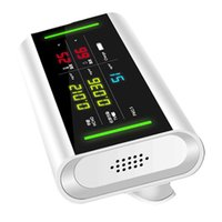 Freeshipping 5 em 1 USB recarregável HCHO / TVOC / PM2.5 Formaldeído temperatura e medidor de umidade Qualidade do Ar Monitor de Gas Analyzer Dete