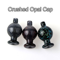New 26mm OD Crushed Opal Cap Heady Glass Bubble Carb Cap Dir...