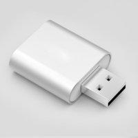 Mini 7.1 Externe USB-Soundkarte USB bis 3,5-mm-Kopfhörer-Adapter AUX-Audiokarte für Mic-Lautsprecher-Laptop-Computer-Soundkarte