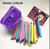 Moda Bendy Silindirler Flexi Çubukları 42pcs anda / Set 7 Stiller Diy Saç Curling Çubukları Magic Saç Roller Yumuşak Flex Çubukları İçin Saç köpüğü silindirler