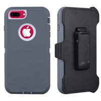 Caso de iPhone6 / 7/8, más, pesada resistente caso de derechos, clip de la correa cubierta protectora Funda pata de cabra [prueba de golpes] para el iphone XR XS Max