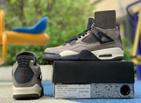 Com Caixa de 2019 4s Travis x Houston Olive Jack Amigos E Família mens sapatos de basquete 4s Esportes sneaker trainer top quality shippment livre