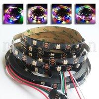 5 V SK6812 5050 RGBW RGBWW LED Esnek Şerit Işık Bant 5 M 150EDS 4 in 1 Bireysel Adreslenebilir Sihirli Renk Değişimi Siyah PCB Su Geçirmez