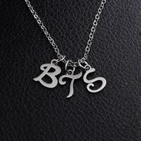 BTS Jimin Army Bangtan Boys A.R.M.Y Lettera Ciondolo con catena a maglie Collana in acciaio inossidabile con collane per uomo Donna