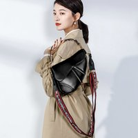 European and American fashion ladies saddle shoulder bag cow...