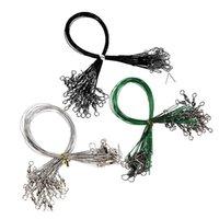 72 teile / los Abriebfestigkeit Angelschnur Stecker Rollwirbel Edelstahl Spinner Wire Trace Lockt Drei Größen