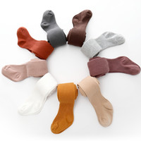 Niños otoño invierno de punto polainas color sólido infantil Legging del niño Pantalones Casual Pantyhose flaco infantil costilla polainas