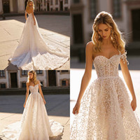 2019 Summer Beaded Bohemian Wedding Dresses Sweetheart Illus...