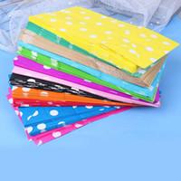 10pcs / lot multicolore Popcorn regalo della caramella di Stand Up Dot Wrapper Bag imballaggio del sacchetto di carta kraft pacchetto