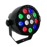 Shehds LEDフラットパー12×3W RGBW照明プロフェッショナルLEDステージライト効果DMX512マスタースレーブDJディスコパーティー