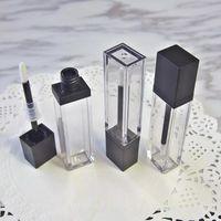 Lagerflaschen Gläser 20pcs / lot 7ml Quadratisch Makeup Flüssigkeit Leer Lippenstift Lip Gloss Rohre Hohe Qualität Transparente Kosmetikverpackungen enthalten