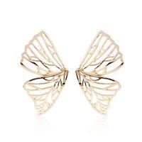 Asas de borboleta charme brincos para as mulheres s925 agulha de prata boêmio estilo do feriado animal brincos de ouro menina presentes de aniversário reborn jóias
