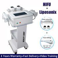 2021 Липосоничный корпус для похудения машины для формования Hifu снятие лица снятие морщин 2 в 1 Ультразвуковое ультразвуковое ультразвуковое устройство