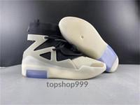 (NEW) Jerry Lorenzo timore di Dio 1 String Mens scarpe da basket FOG 1 multi-colore Off Noir di farina d'avena progettisti degli addestratori uomini di sport scarpe da tennis