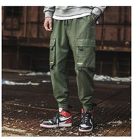 New ins Style Mens Trousers Pockets Cargo Pants Casual Botto...