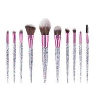 Profesyonel Makyaj Seti elmas parıltı Vakfı Kaş Göz Farı Fırçası Kozmetik Fırça Araçları Pincel Maquiagem ücretsiz nakliye Fırçalar