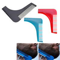 Los hombres calientes Líneas Gentleman simetría facial Barba de pelo guía de la talladora de plantilla Peines labra los accesorios herramienta de modelado de ajuste