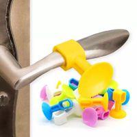 10 Stück Praktische Türgriff Silikon-Antikollisions Sucker Home Tür Schutz Pad Mute Schalldämpfer Absaug- Türstopper Mats