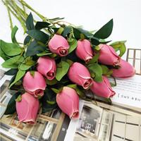 Atificial Çiçekler Güller Tomurcuklar Düğün Güzel İpek Gül tomurcukları Çiçekler Romantik Yapay Sahte Çiçek Ev Dekorasyonu Malzemeleri