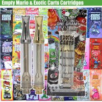 Empty Mario Exotic Carts Holograms Bags Vape Cartridges AC10...