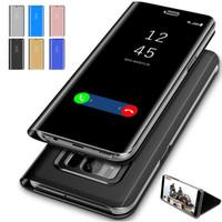 Для Samsung Phone Case S10 S9 S8 S7 S6 Зеркало Кожаный Чехол Чехлы Для Мобильных Телефонов Телефон Оболочки Высокого Качества