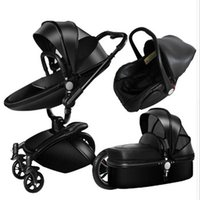2020High-view Luxury Baby Stroller 3 em 1 Moda Pram Carriage Europeia Terno por mentir e assento