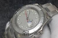 İki renk Üst NFactory Mens Otomatik Eta3135 İzle Erkekler 40 * 13mmCalendar Safir Spor Dalış İsviçre Tam 316L Çelik beyaz Saatı