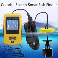 Açık Balıkçılık Ücretsiz nakliye için Bulucu Fishfinder Fishing Kablolu Balık Bulucu 100M Taşınabilir Sonar Sensör LCD Balık Bulucu İskandili