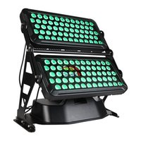 Free shipping High Power Outdoor 120*18W RGBAW UV 6 in 1 IP65 Rated Wall Washer Light LED City Color with flight case