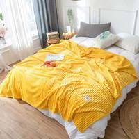 Super suave manta para la cama raya manta del tiro de visón Sofá Cover Colcha invierno Hoja de cama caliente reina Rey del Verano de la siesta