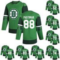 Boston Bruins David Pastrnak 2020 St. Patricks Day Jersey Brad Marchand Charlie McAVoy Jake Debrusk Jeremy Lauzon Anton Blidh Kevan Miller