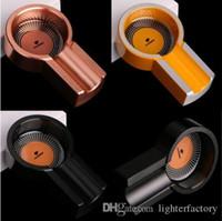 COHIBA Gadgets Kleine Größe Titanlegierung Metall Zigarre Aschenbecher Mini Titanlegierung Tragbare Reise Tabak Zigarre Aschenbecher Halter #A