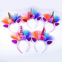 Paillettes Licorne Cheer Bows Imprimer Paillettes Fleur Arc De Cheveux Avec Élastiques Bandes De Cheveux Pour Les Filles Boutique Accessoires De Cheveux Pour Fille