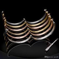 Hot 316L Titanium Steel Love Braclets Серебряные Розовые Золотые Браслеты Женщины Мужчины Винт Окрутчик Браслет Пара Ювелирных Изделий