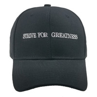 STRIVE FOR GREATNESS Embroidered Hip Hop Cap Cotton Men Wome...