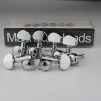 새로운 크롬 설정 그로버 헤드 머신 튜너 기타 튜닝 페그 3R + 3L 기타 부품