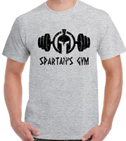 Spartan' s Gym - Mens T- Shirt Gym Weight Training Top MM...