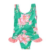 MUQGEW الأطفال أطفال بنات ملابس الصيف بيكيني شاطئ قطعة واحدة طباعة الأزهار ملابس السباحة طفلة ازياء السباحة