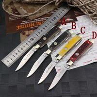 OEM doratura sog Kershaw C07 X50 bue manico in osso di acciaio di alta qualità 9cr18mov 2-mode coltello da tasca lama goccia d'acqua di tanto con la scatola al minuto