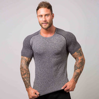 Short Sleeve T- shirt Men' s Breathable Fitness Muscle Gr...