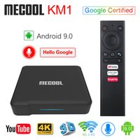 Mecool KM1 Android9. 0 Google сертифицированный Android 9.0 TV Box 4GB 64GB Amlogic S905X3 Voice Input Control Youtube 4K Set Top Box 4G 32G