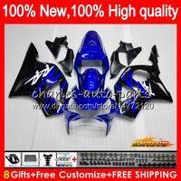Carrocería para HONDA CBR954RR CBR900RR azul negro nueva CBR900 RR CBR954 02 2003 77HC.6 CBR 900cc 954 900 CC RR CBR 900RR 954RR 2002 03 carenado