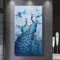 DIY Diamond Painting، Special Daimond accessories، Diamond Diamond، Animal، Peacock، Full، Rhinestone، 5D Diamond Mosaic، ديكور