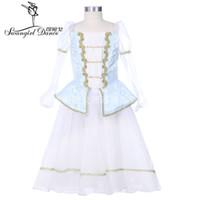 Pas De Trois Hellblau Professionelles Balletttanzkleid Kinderromantisches Ballett Bühnenkostümkleid BT9253