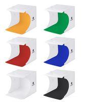 Mini Photo Studio Box Фотографии фона Встроенный Светло-фото Коробка Маленькие Предметы Фотографии Коробка Студия Аксессуары