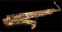 Japonya YANAGISAWA T-902 Tenor Profesyonel Saksafon Bb Dinle B Düz Sax Pirinç Altın Kaplama Müzik aletleri Ile Vaka