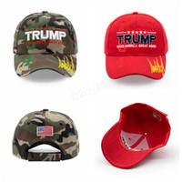 Дональд Трамп 2020 бейсболка вышитые сделать Америку большой снова шляпа камуфляж флаг США открытый письмо спортивная шапка LJJA2908