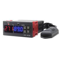 STC-3028 تحويل درجة الحرارة الرقمية الرطوبة وحدة تحكم الرئيسية الثلاجة ترموستات قياس نسبة الرطوبة رطوبة ميزان الحرارة تحكم