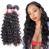 Bella Hair® Malaysian Deep Wave 8-30 100% Jungfrau Menschenhaarverlängerung Schuss Natürliche Farbe 2 Stück webt