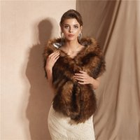 Elegant Dress Shawl Faux Fur Bridal Dress Shawl Warm Shawl 2...